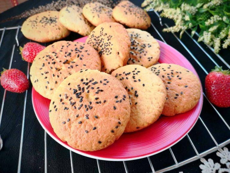 Easy Healthy Crispy Cookies | Peach Shortbread Recipe
