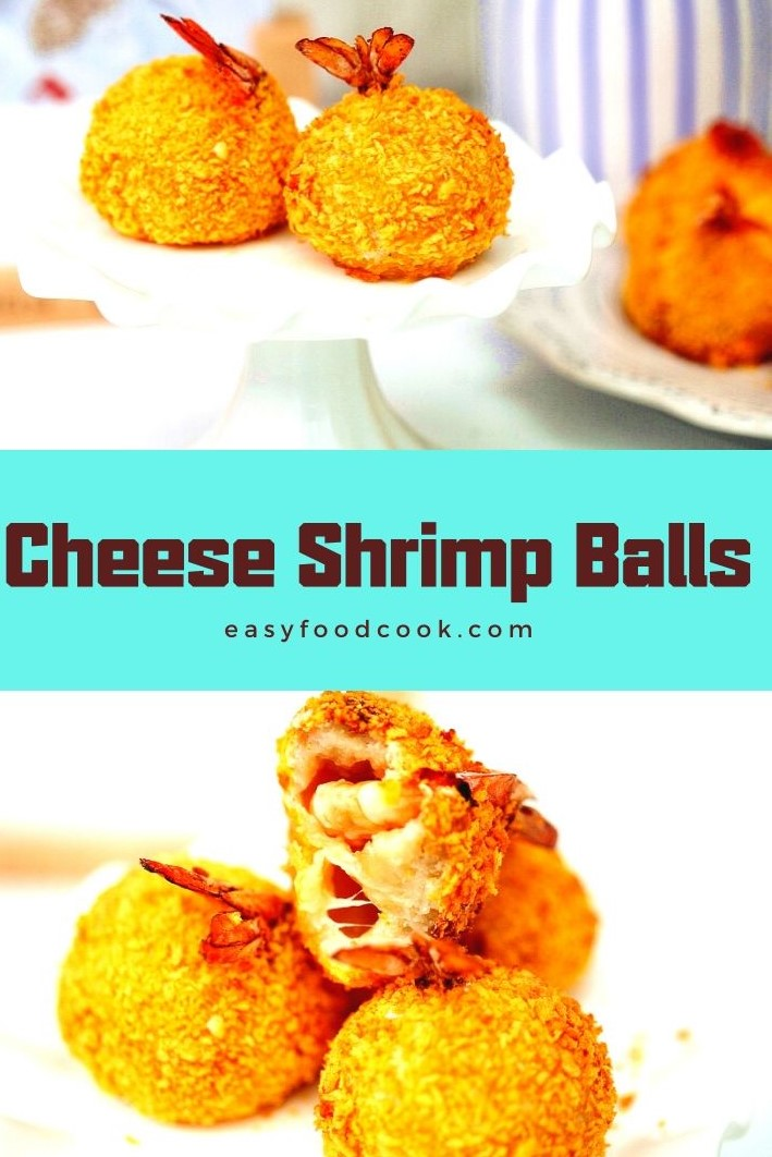 Grilled cheese shrimp balls