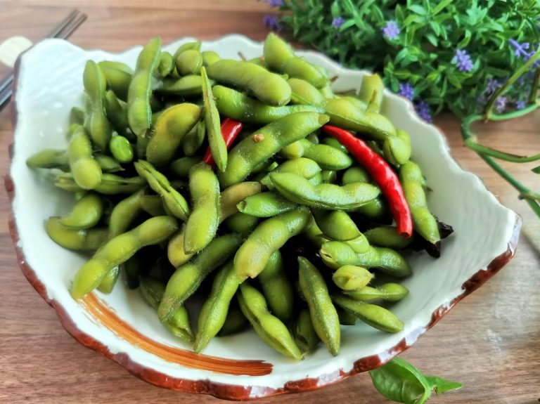 Spiced Green Soybeans | Edamame Soy Beans Recipe Summer Snacks