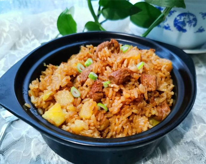 Stewed Rice with Lamb and Potatoes braised rice Chinese
