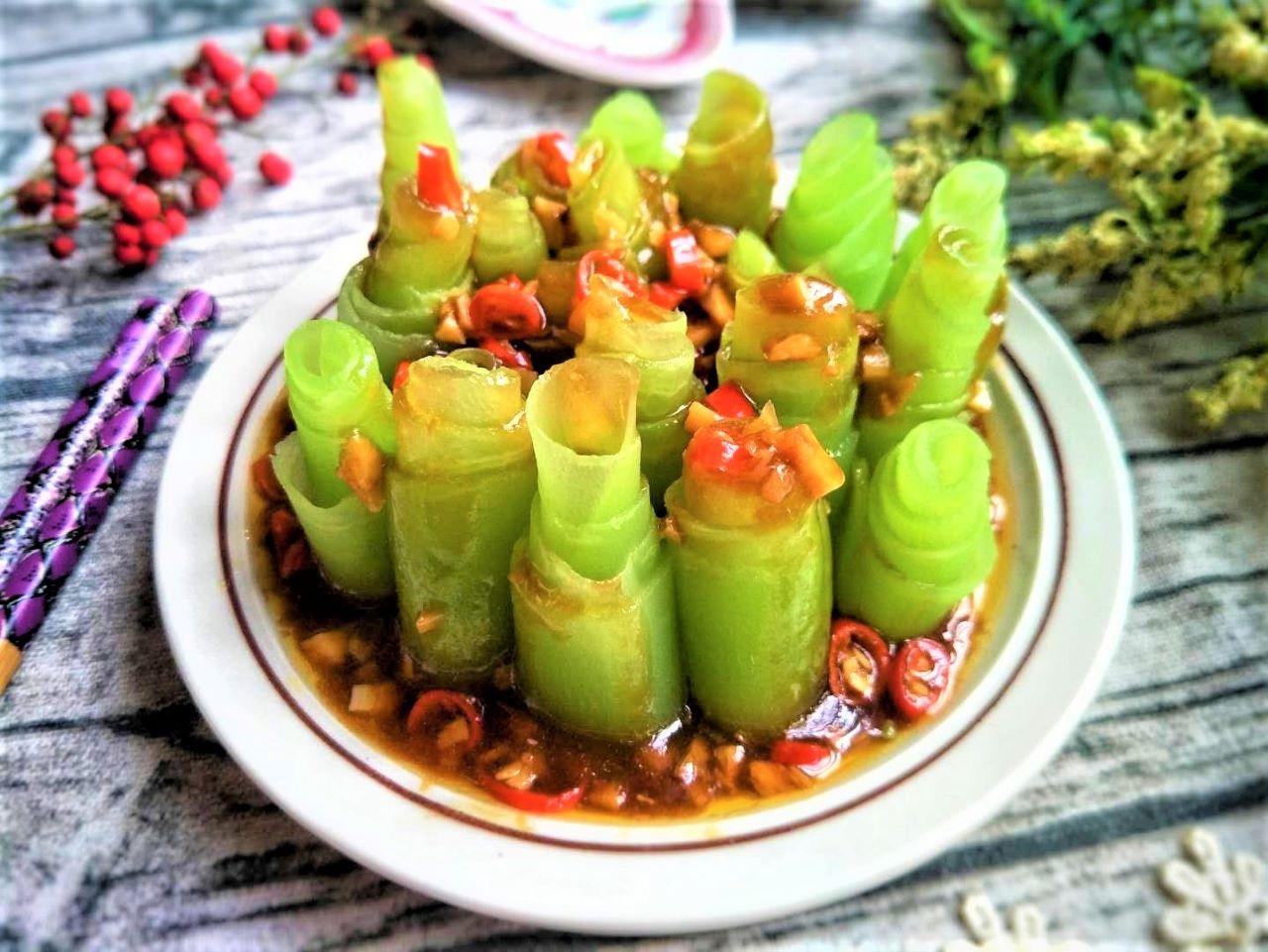 Celtuce Stem Salad Recipe chinese cold dish 2020