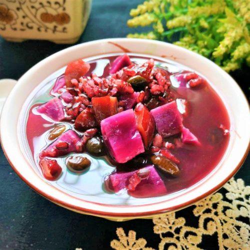 Purple Sweet Potato Porridge healthy breakfast dinner china food Chinese rice Porridge