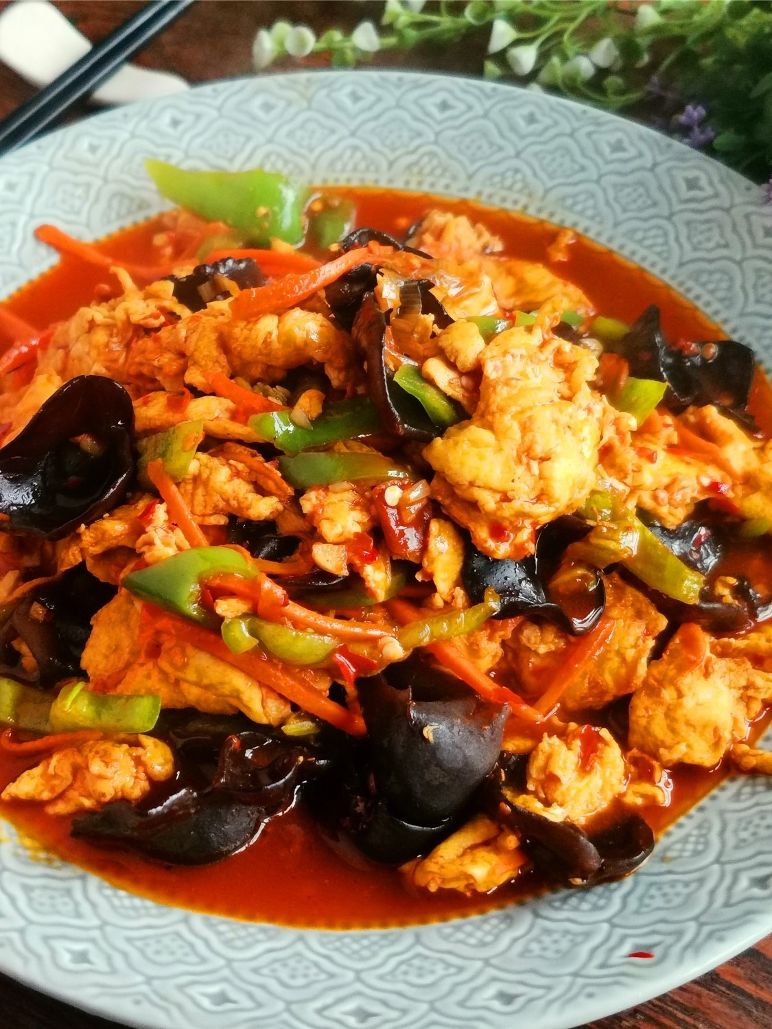 chinese scrambled eggs with fish sauce1a
